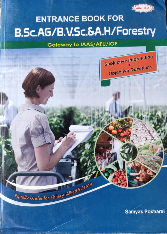 Entrance Book for B.SC AG